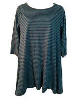 BIBICO by SNOW Women's UK 10 S Striped Tunic Dress Striped Organic Cotton Jersey