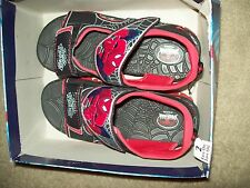 SPIDERMAN SANDALS SIZE YOUTH 2 NEW WITH BOX CLOSURE ON TOES AND FOOT