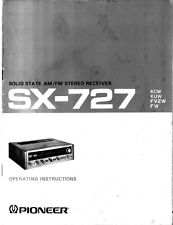 Pioneer SX-727 Receiver Owners Manual