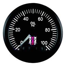 Stack Pro Control Oil Pressure Stepper Motor Gauge - Black Dial Face - 0-100 Psi