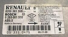 Calculateur VIERGE d'air bag Renault Clio 3 0285001510 8200563368