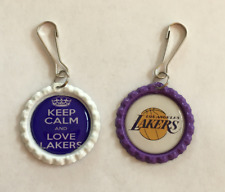 Handmade Los Angeles Lakers Zipper Pull Set of 2