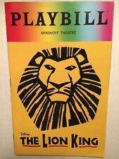 LION KING PRIDE PLAYBILL BOOK NEW YORK BROADWAY JUNE 2108 Elton John Tim Rice