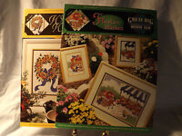 """True Colors Cross Stitch Patterns Charts  """"Great Big Graphs"""" Flowers Lot of 2"""