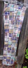 70s Nos Thomson Madras Patchwork Plaid Golf Pants Mens W31, Unhemmed Nwt
