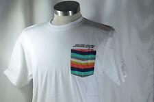 "Santa Cruz WHITE Tee T Shirt Skateboard Large L 21x30"" 100% Cotton NEW NWOT #17"
