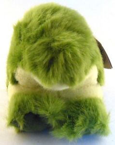 Albert the Alligator Puffkins Bean Bag Plush 1998 Green with Hang Tag
