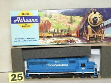 ATHEARN HO SCALE BOSTON & MAINE GP-40 DIESEL LOCOMOTIVE READ TO RUN