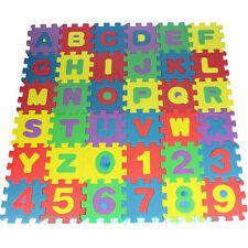36 Soft Foam Mat Alphabet Number Jigsaw EVA Interlocking Baby Kids Play UK