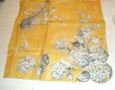 Vintage Ladies Hanky Mandolin Flowers Hand Rolled Phillipines Tags