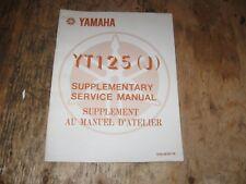 1982 YAMAHA YT 125(J) SUPPLEMENTARY SERVICE MANUAL BILINGUA  FREESHIP US+CAN