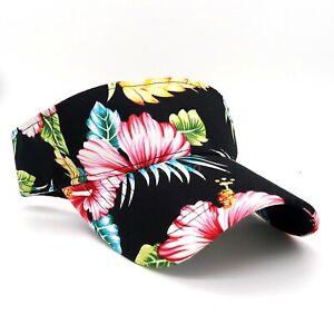 Visor Sun Hat for Mens Womens Cap Adjustable Hats Hawaii Style UV Protection