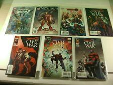 Lot of 7 Marvel Comics Civil War House of M (1-5) One Shot Secrets of &Civil War