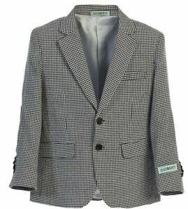 Boy's Sport Coat Houndstooth Blazer Jacket Kids Toddler Formal Wear Size 2T-20
