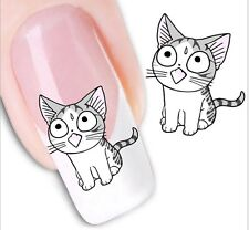 Nail Art Sticker Water Decals Transfer Stickers Cats Kittens (XF1253)
