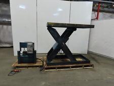 10000lb Hydraulic Scissor Lift Table 68x30 Top 11 59 Height 208 230460v 3ph