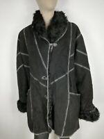 SHEARLING MONTONE SHEEPSKIN Cappotto Giubbotto Giacca Jacket  Tg 48 Donna