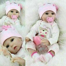22'' Bambole Reborn Baby Dolls Morbido Vinile Realistico Silicone Bambino IT