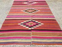 Vintage Turkish Kilim Kelim Rug 250x145cm shabby chic wool, country home, boho