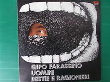 LP GIPO FARASSINO UOMINI BESTIE E RAGIONIERI 1972 MIRACOLOSAMENTE NUOVO