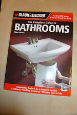 The Complete Guide to BATHROOMS Manual from Black & Decker 2010 tech builds +DVD