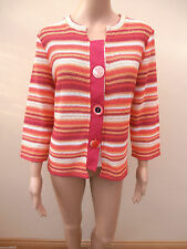 Marks and Spencer Striped 3/4 Sleeve Medium Women's Jumpers & Cardigans