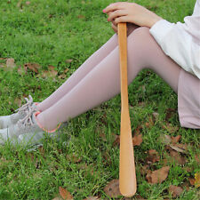 9styles Delicate Natural Wooden Craft Shoe Horn Long Handle Shoe Lifter ME