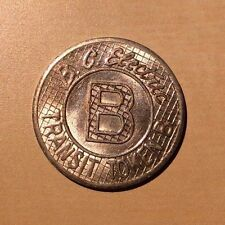 "BC Electric Railway ""B"" Transit Token!!"