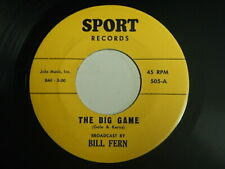 Rare R&B inst / Novelty cut-in 45 Bill Fern The big game / Stolen bases on Sport