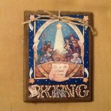 5 Wooden Christmas NATIVITY Ornaments/JESUS GiftTags/HangTags HANDCRAFTED SetJ
