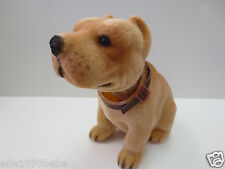 Pit Bull Dog / Khaki Bobbing Head Dog / Bobble Head Toy