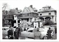 1940s Peoria Illinois Homecoming Parade Dachshund Dog Float Vintage Photo