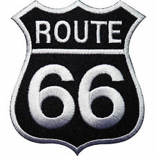 Route 66 Sign Embroidered Iron / Sew on Patch Clothes Jacket Bag Badge Transfer