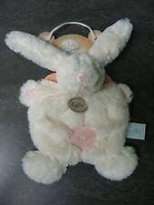 doudou lapin blanc rose croix baby nat' neuf
