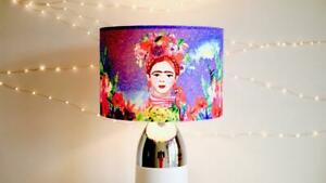 Frida Khalo Mexican Velvet Lampshade Drum Lamp Shade 30cm 40cm Day of the Dead