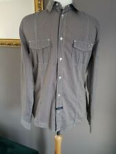 Mens Guess Checked Button Down Long Sleeved Shirt Medium