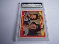1961 Topps Pittsburgh Pirates #313 World Series Bill Mazeroski Auto PSA/DNA Auth