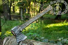 Custom Axe Hand Forged Viking Battle Axe high carbon steel LARP axe