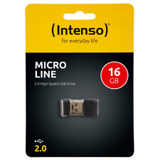 kQ Intenso 16GB USB Stick Micro Line mini USB flash drive 16 GB Speicher schwarz