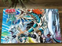 NEW Yugioh Kaiba Seto & Blue-Eyes White Dragon Trading Card Game TCG CCG Mat