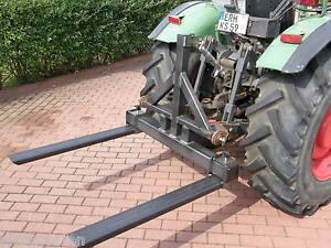 Palettengabel Front & Heckhydraulik 3 Punkt unlackiert 1000 mm Breite