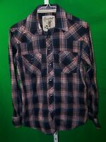 Coastal Mens Western Shirt Snap Close Front, Cuffs and Pockets.  Size Large
