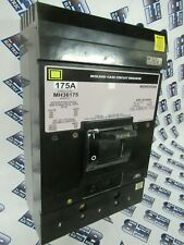 Square D Mh36175 175 Amp 600 Volt Grey Circuit Breaker Test Reportwarranty