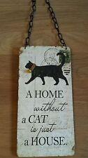 Wooden Cat Vintage/Retro Decorative Indoor Signs/Plaques