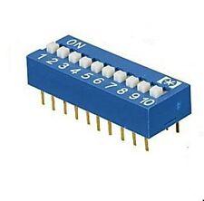 Mini DIP Schalter 10-polig Wippschalter (Mäuseklavier) 10xEIN Printmontage 2St.