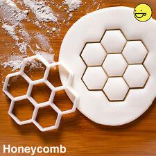 Honeycomb cookie cutter   hexagon geometry shape honey bee beehive structure