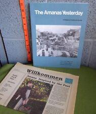 AMANAS YESTERDAY Iowa book Religious Communal Society 1975 Wilkkommen newspaper