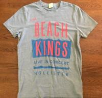 Vintage Hollister Mens Grey Graphic T Shirt Size Small S The Beach Kings