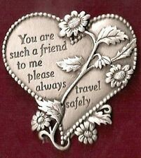 Car Truck Visor Clip Heart shaped You are such a friend to me, .. Camco KVC325