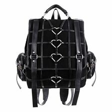 Restyle Heavy Heart Faux Leather Strap Gothic Witch Backpack Bag
